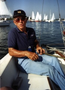 Joe Becker at the helm of his Catalina 22