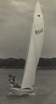 Gerry Kinne and Joe Becker sailing on White Rock Lake